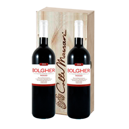 Castello ColleMassari     BOLGHERI Rosso Doc - Cassetta in legno con 2 bottiglie