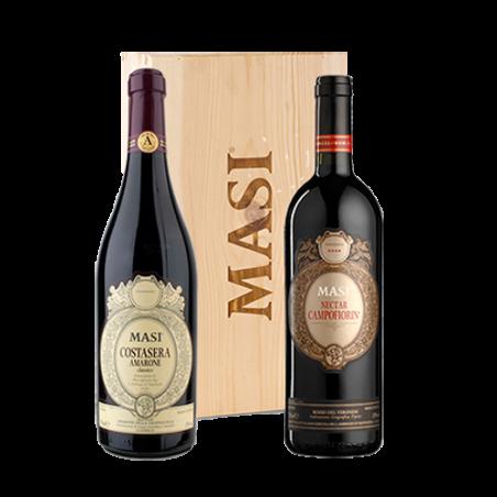 Masi     DUETTO MASI - Cassetta in legno con 2 vini rossi: Amarone Costasera e Nectar Campofiorin