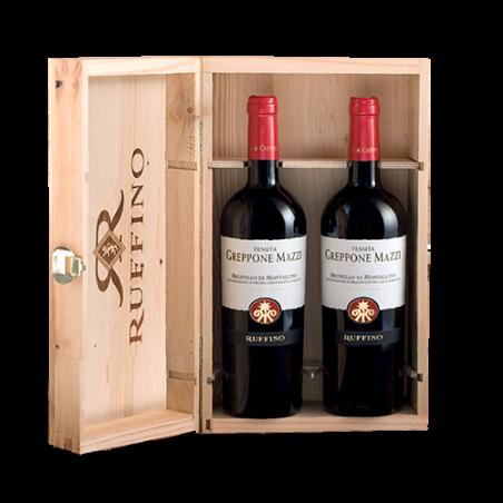 Ruffino    Cassetta in legno con 2 bottiglie di Brunello di Montalcino Greppone Mazzi 2013