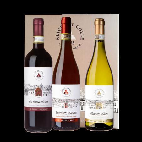 Cantina Alice Bel Colle     LA DOLCE ALICE - Confezione regalo con 3 bottiglie di vino piemontese - Le Casette di Alice