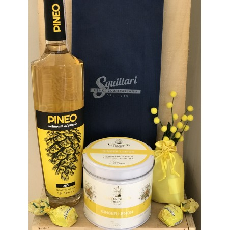 """Squillari  Confezione Regalo """"Festa della Donna"""" - Vermouth, Tisana e Cioccolatini"""