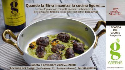 Quando la Birra incontra la cucina ligure....cena-degustazione alla Locanda dei Giorgi - Rovegno (Genova)