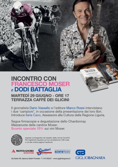 Incontro con Francesco Moser e Dodi Battaglia a Sestri Ponente