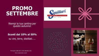 PROMO SETTEMBRE - Sconti fino al 50% su vini, birre, distillati.......