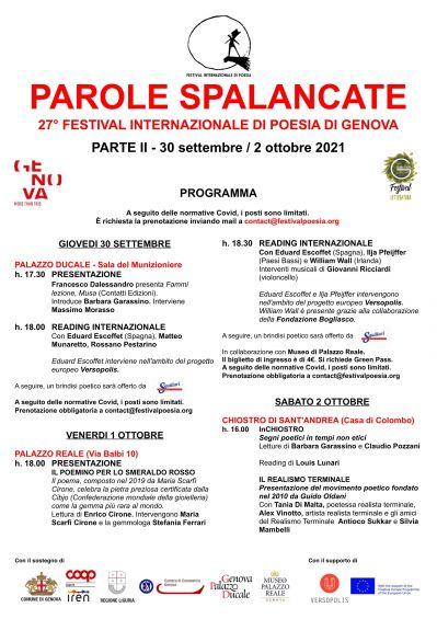 """Brindisi Poetico in occasione dell'evento """"Parole Spalancate"""" ideato da Claudio Pozzani"""