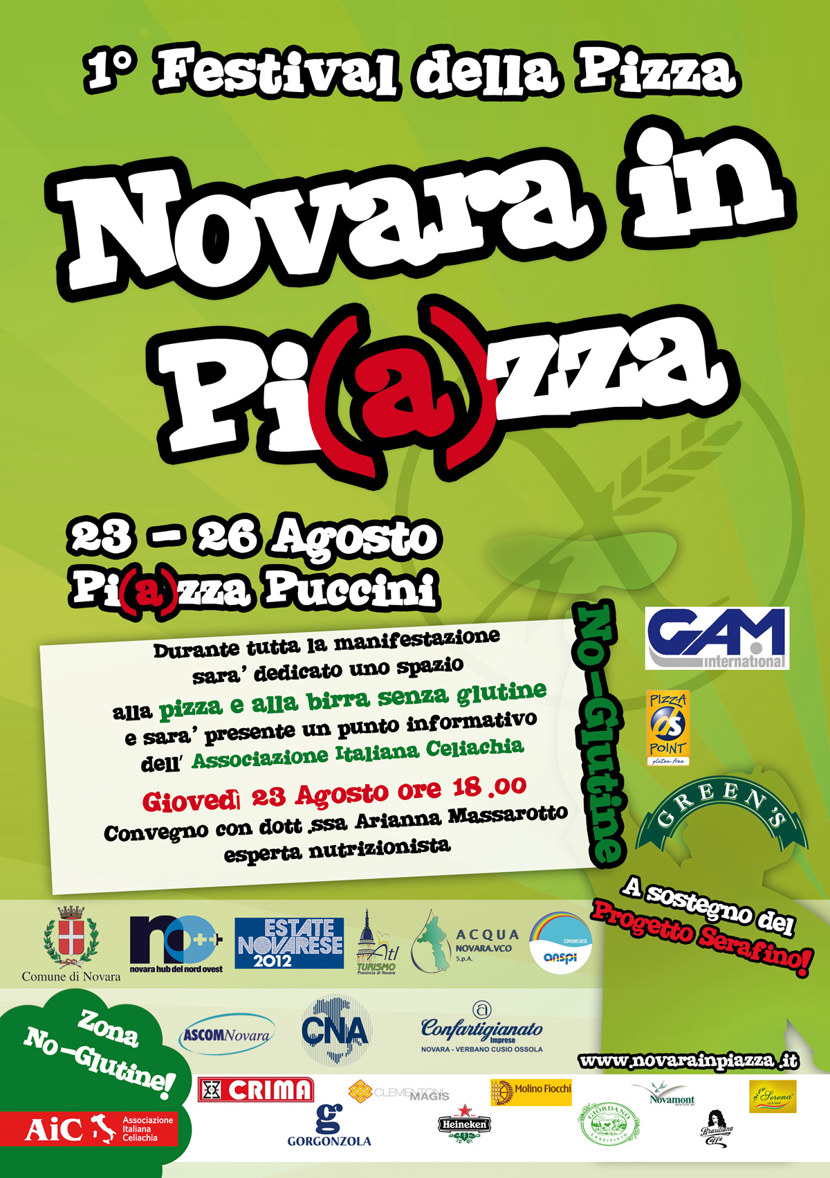 NOVARA IN PI(A)ZZA - GREEN'S Sponsor del 1° Festival della Pizza di Novara