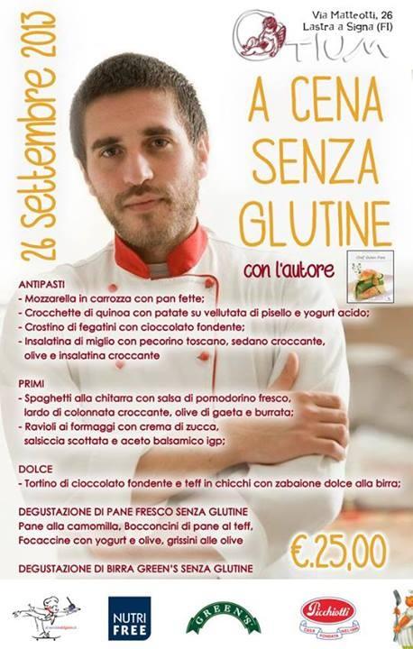 A CENA - senza glutine - con l'AUTORE e le birre GREEN'S: Marco Scaglione a Lastra a Signa (Firenze)
