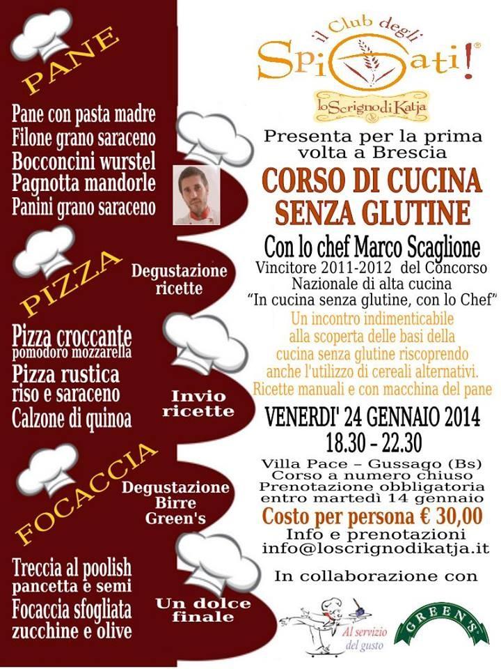 Corso di Cucina senza Glutine al Club degli SPIGATI di Gussago (Brescia)