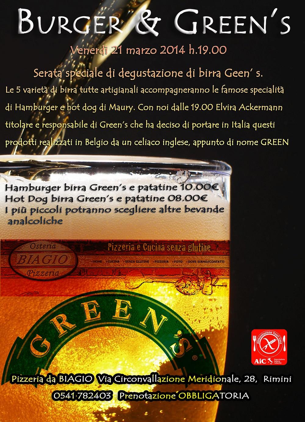 BURGER & GREEN'S alla Pizzeria da BIAGIO - Rimini