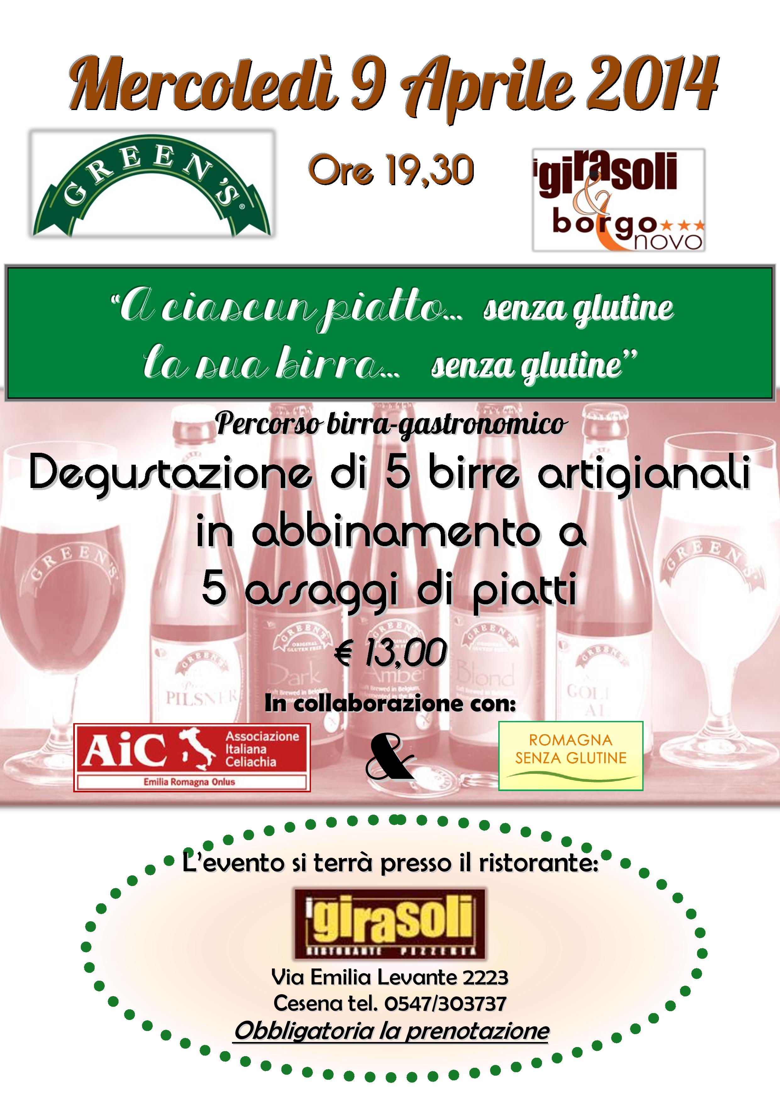 Birra Gourmet al Ristorante I GIRASOLI di Cesena (Romagna)