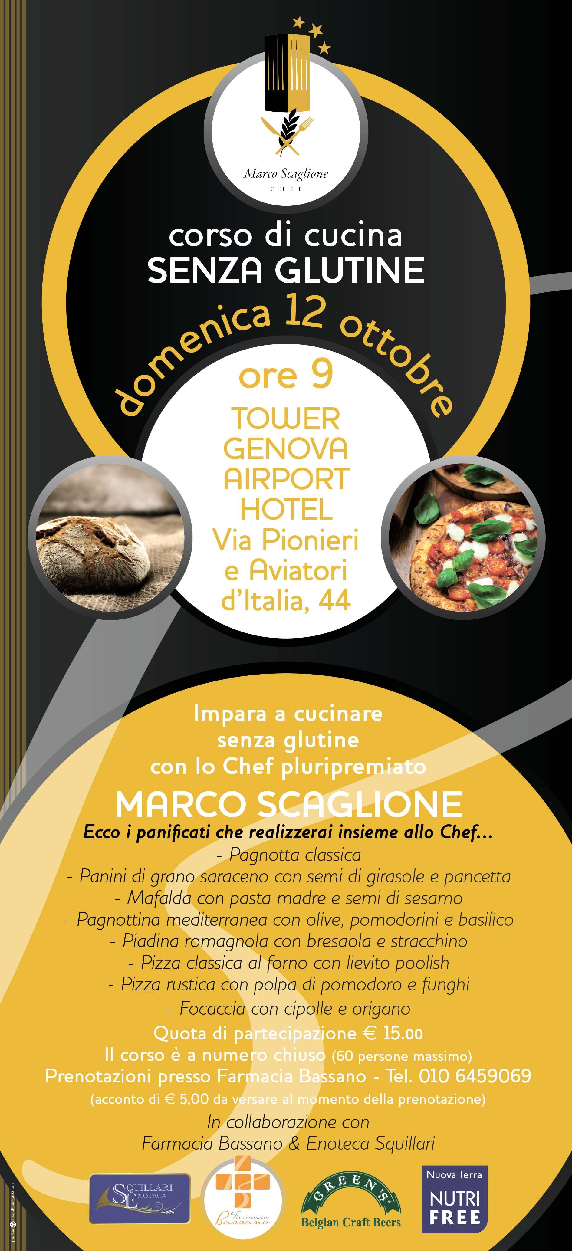 Corso di Cucina senza Glutine con lo Chef MARCO SCAGLIONE