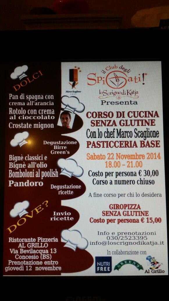 Corso di Cucina con lo Chef MARCO SCAGLIONE al GRILLO di Concesio - Brescia
