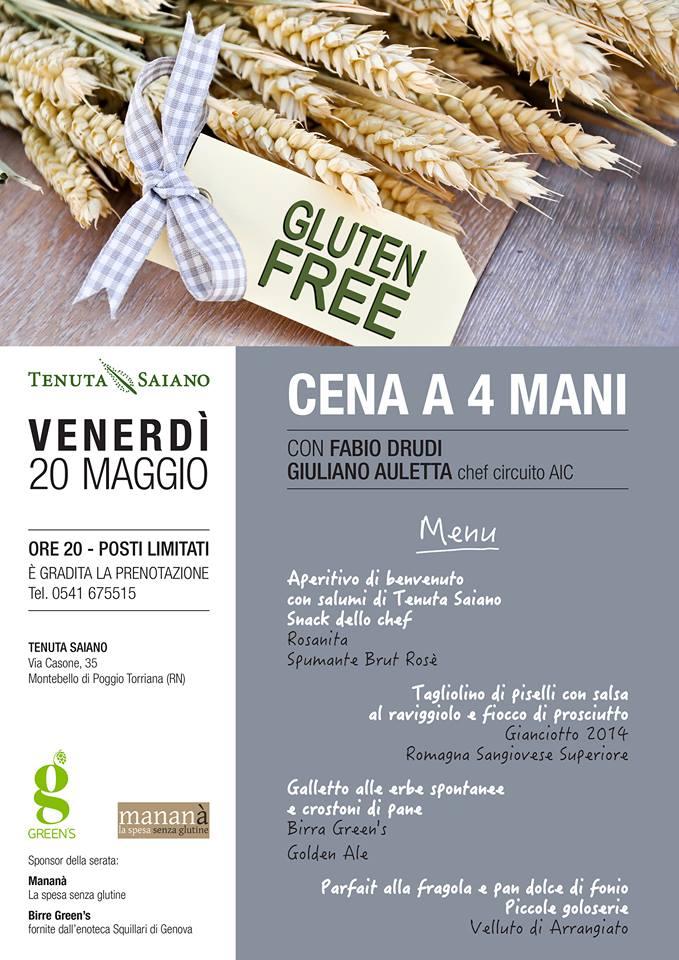 Cena a 4 mani gluten free con Chef Giuliano Auletta e Chef Fabio Drudi