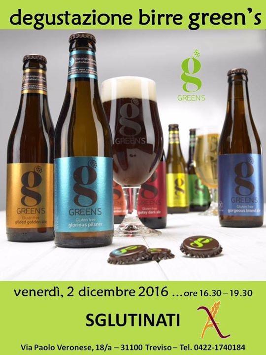 Degustazione Birre GREEN'S dagli SGLUTINATI di Treviso
