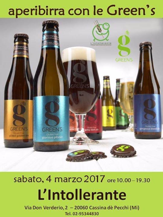 Degustazione Green's da L'Intollerante di Cassina de' Pecchi (Mi)