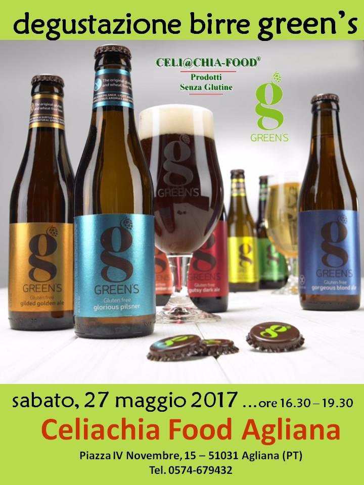 Degustazione Birre GREEN'S - CELIACHIA FOOD AGLIANA (Pistoia)