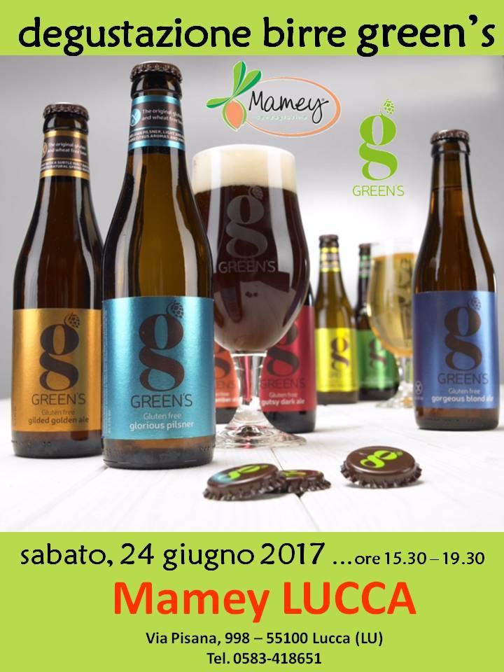 Degustazione Birre GREEN'S - MAMEY Lucca