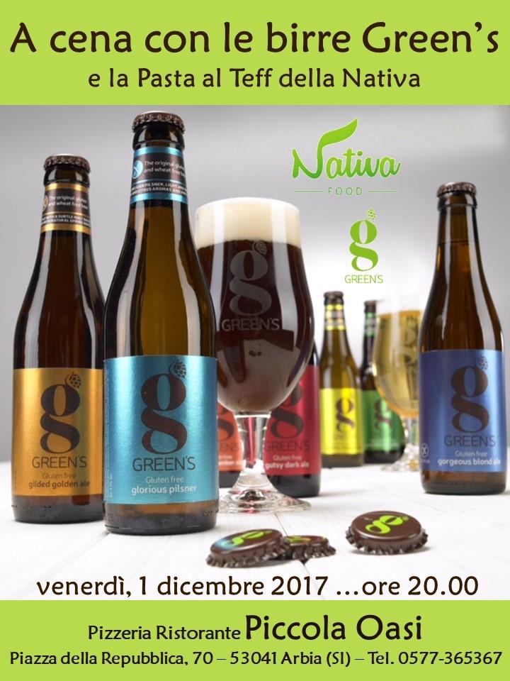 A cena con le Green's e Nativa alla Piccola Oasi di Asciano (Siena)