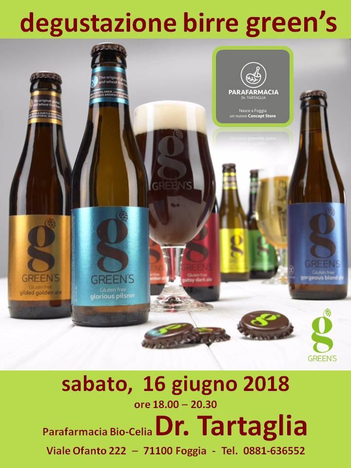 Degustazione Birre Green's presso la Parafarmacia Bio-Celia del Dr. Tartaglia - Foggia (Puglia)