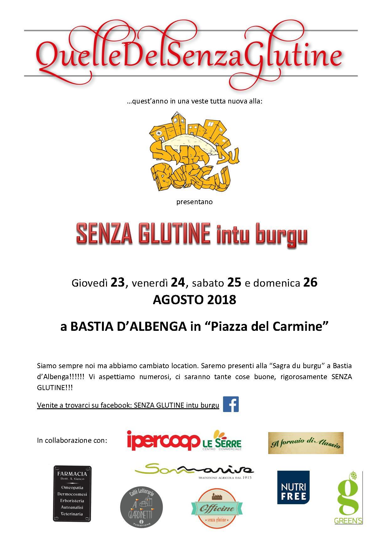 Senza glutine Intu Burgu - Le Green's alla Sagra du Burgu a Bastia d'Albenga (SV)