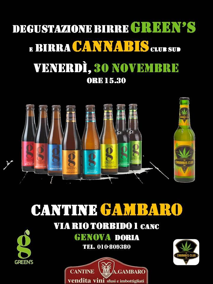 Degustazione Green's e Birra Cannabis - Cantine Gambaro Genova